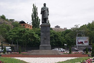Abovyan Street - The statue of Khachatur Abovian at the northern entrance to the street