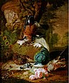 Abraham Bisschop (attributed to) - Hunting still life with peacock and other birds.jpg
