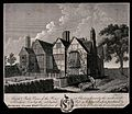 Abraham Cowley's house in Chertsey. Line engraving by J. Bas Wellcome V0018687.jpg
