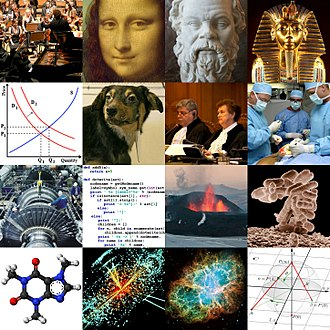 Outline of academic disciplines - Collage of images representing different academic disciplines