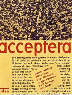 <i>Acceptera</i> art manifesto