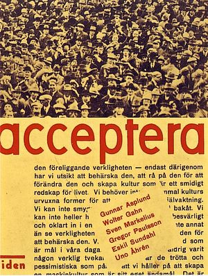 Acceptera - Cover of the first edition