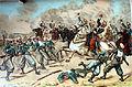Acción de Gandesa. Carga de caballería dada a los zuavos de D. Alfonso (Segunda parte de la Guerra Civil. Anales desde 1843 hasta el fallecimiento de don Alfonso XII).jpg