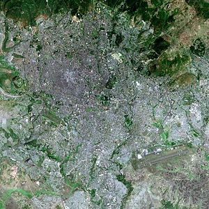 Addis Ababa - Addis Ababa seen from SPOT satellite