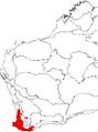 Adenanthos obovatus map.png