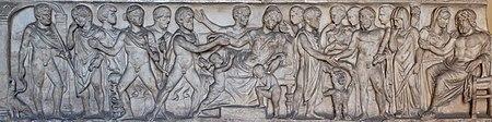 Сцена из мифа об Адмете и Алкестиде