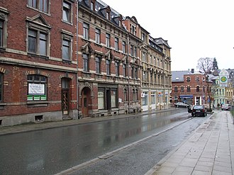 Adorf - Substantial late 19th century buildings in Lessingstr.
