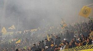 AEK Larnaca FC - AEK Larnaca Fans at the GSZ Stadium