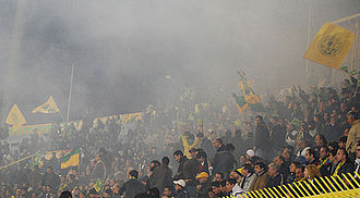 AEK Larnaca FC - AEK Larnaca Fans at the GSZ Stadium