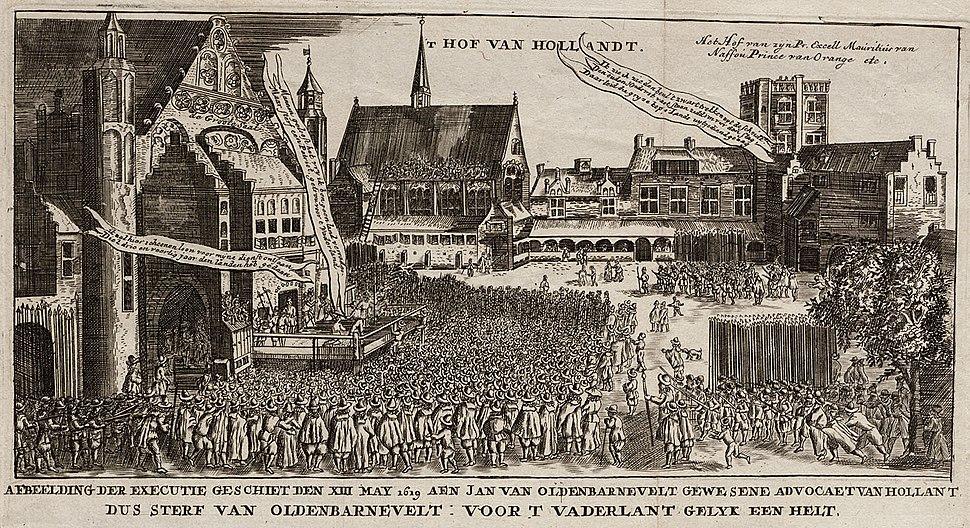 Afbeelding der executie geschiet den XIII mey 1619 aen Jan van Oldenbarnevelt (Jan Luycken)
