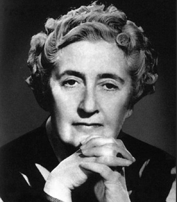 Agatha Christie, best selling crime novelist Agatha Christie.png