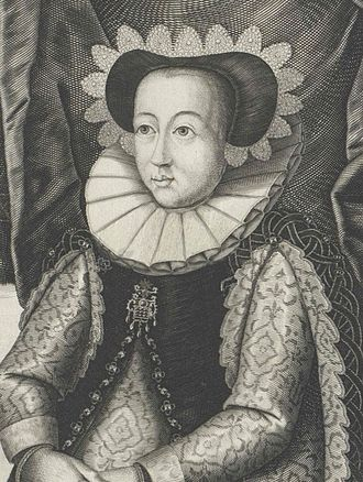 Agnes of Solms-Laubach - 17th century engraving