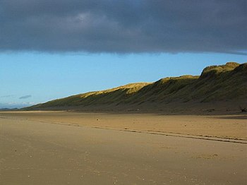 English: Ainsdale Beach and Sand Dunes. This p...