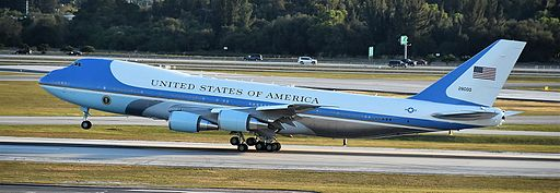 Air Force One departs West Palm Beach