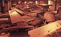 Aircraft in USS Carl vinson (CVN-70) hangar bay c1986.jpg