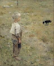 Akseli Gallen-Kallela - Boy with a Crow - Google Art Project