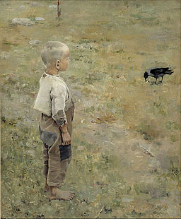 Akseli Gallen-Kallela - Boy with a Crow - Google Art Project