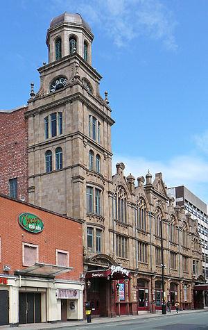 Albert Hall, Manchester - Exterior of venue seen from Peter St (c.2010)
