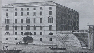 Drawing of the Albion Mills