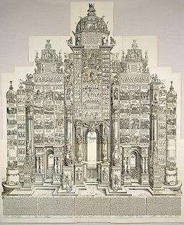<i>Triumphal Arch</i> (woodcut) 16th-century monumental woodcut print