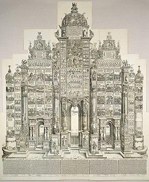 Triumphal Arch (woodcut) - The Triumphal Arch