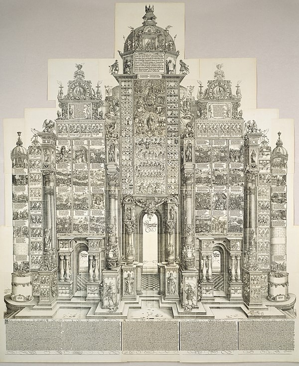 The Triumphal Arch Albrecht Durer - The Triumphal Arch of Maximilian (NGA 1991.200.1).jpg