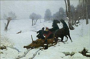 Alfons Dunin-Borkowski - Image: Alfons Dunin Borkowski Podjazd lisa 1889