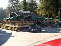 Alice's Restaurant deck, parking lot, flag.jpg