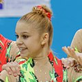 Alina Ivanova 2014 Acrobatic Gymnastics World Championships - Women's group - Qualifications - Belarus 2 02 (cropped).jpg