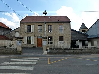 Alland'Huy-et-Sausseuil - The Town Hall and School