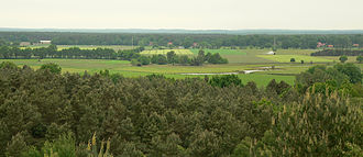 Aller (Germany) - The Aller Valley near Wietze. In the background, the low hills of the Lüneburg Heath