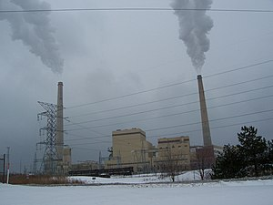 Alliant Energy - Alliant's Edgewater Generating Station, a coal power plant in Sheboygan, Wisconsin