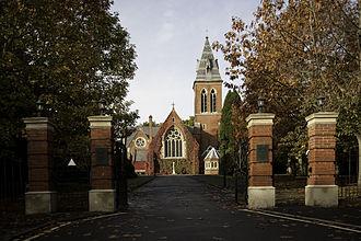 Aldershot Garrison - Image: Allsaintsalder wyrd 29O6 0121