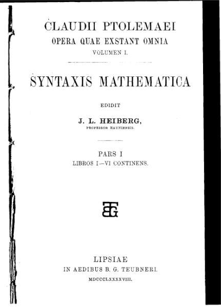 File:Almagest Complete, Ptolemy, Heiberg.djvu
