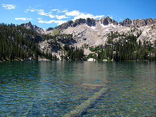Alpine Lake (Central Sawtooth Wilderness) lake in Custer County, Idaho, USA in the Central Sawtooth Wilderness