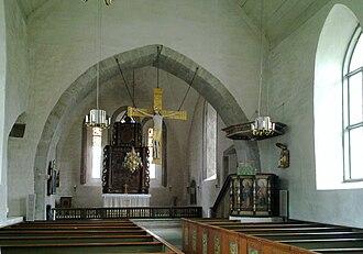 Alskog Church - Image: Alskogs kyrka Gotland interioer 1