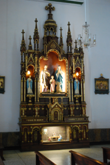 Altar of the Sacred family at the Buga Basilica.png