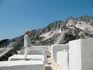 Amalia Del Ponte - Amalia Del Ponte at Carrara quarry, Tuscany, Italy.