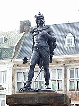 The statue o Ambiorix at the Tongeren Great Mercat