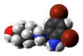 Ambroxol cation spacefill from xtal.png