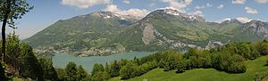 Glarus Nord - View from Filzbach across Walen Lake toward Amden