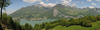 Glarus Nord - View from Filzbach across Walen Lake toward Amden