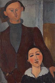 <i>Jacques and Berthe Lipchitz</i> Painting by Amadeo Modigliani