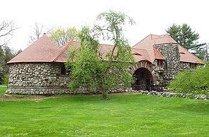 Ames Gate Lodge - Image: Ames Gate Lodge (North Easton, MA) bay
