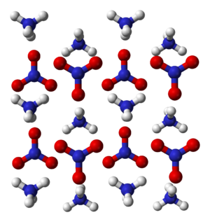 Ammonium nitrate - Image: Ammonium nitrate xtal 3D balls A