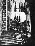 Ammunition handling room on USS Edson (DD-946) in 1971.jpg