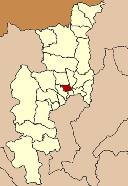 Location of the city within Chiang Mai Province