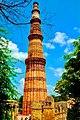 An artistic view of one of Delhi's famous landmark - The Qutb Minar at Mehrauli.jpg