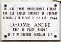 André Dhôme plaque - 129 rue de lUniversité, Paris 7.jpg