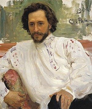 Leonid Andreyev - Portrait of Andreyev by Ilya Repin